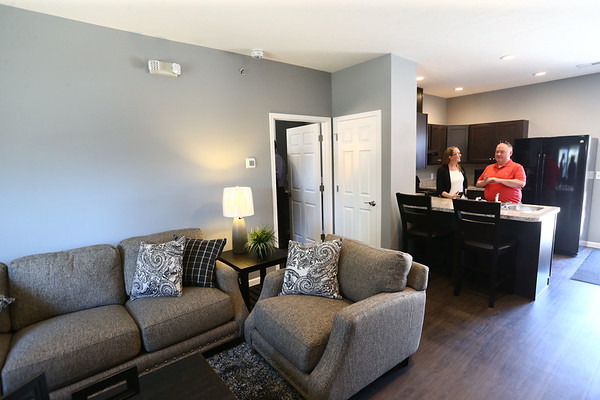 The living room and kitchen inside one of Bona Vista's Meridian Park Apartments on Tuesday, May 1, 2018.<br /> Kelly Lafferty Gerber | Kokomo Tribune