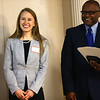 Andrea Peterson wins the Youth Leader scholarship during the Kokomo Tribune Youth to Watch scholarship program on April 18, 2018.<br /> Kelly Lafferty Gerber | Kokomo Tribune