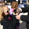 Bella Stoeckley, 10, brought Ziggy, her pet ferret, to opening day of Kokomo's Farmers Market on Saturday, April 28, 2018.<br /> Kelly Lafferty Gerber | Kokomo Tribune