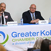 Debate for Howard County Council District 4 Republicans Bryan Alexander and Steven Jones on April 18, 2018.<br /> Tim Bath | Kokomo Tribune