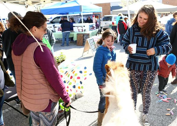 Farmers Market opening day on Saturday, April 28, 2018.<br /> Kelly Lafferty Gerber | Kokomo Tribune