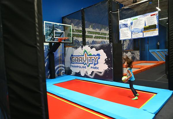 Gravity Trampoline Park opened in Markland Mall on Friday, April 20, 2018.<br /> Kelly Lafferty Gerber | Kokomo Tribune