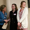 Andrea Larson, right, reacts to winning the Philanthropy scholarship during the Kokomo Tribune Youth to Watch scholarship program on April 18, 2018.<br /> Kelly Lafferty Gerber | Kokomo Tribune