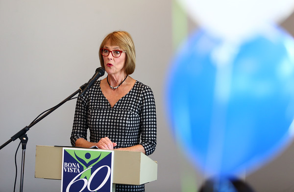 Lt. Gov. Suzanne Crouch speaks at the open house for Bona Vista's Meridian Park Apartments on Tuesday, May 1, 2018.<br /> Kelly Lafferty Gerber | Kokomo Tribune