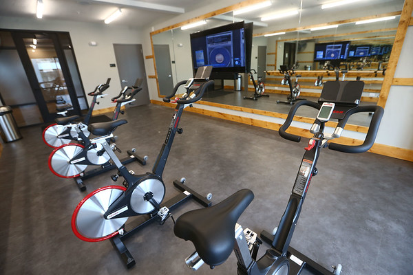 Cycling room - Riverfront 306 Apartments<br /> Kelly Lafferty Gerber | Kokomo Tribune