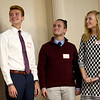 Christian Abney, left, wins the Academic Excellence scholarship during the Kokomo Tribune Youth to Watch scholarship program on April 18, 2018.<br /> Kelly Lafferty Gerber | Kokomo Tribune