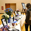 Funeral-goers take a look at the tables of flowers and special mementos before the funeral for 17-year-old student Chad Keown on April 17, 2018, at Tri-Central High School. Chad passed away on April 12.<br /> Kelly Lafferty Gerber | Kokomo Tribune