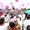 Friends and family of 10-year-old Renay Jenkins, who was killed in a hit-and-run on August 9, release balloons in her memory at Albright Cemetery on Saturday, August 18, 2018.<br /> Kelly Lafferty Gerber | Kokomo Tribune