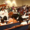 Friends and family gather at Mount Pisgah Missionary Baptist Church on Saturday, August 18, 2018, for 10-year-old Renay Jenkins' funeral. Renay was killed in a hit-and-run on August 9.<br /> Kelly Lafferty Gerber | Kokomo Tribune