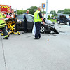 Accident at Sycamore and Ind 931 on Aug. 20, 2018. <br /> Tim Bath | Kokomo Tribune