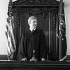 Judge Bruce Embrey sworn in on July 1, 1977.<br /> Kokomo Tribune Archive