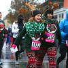 Runners and walkers set off on the Kokomo-Howard County Public Library's Rudolph Run 5K on a rainy Saturday morning, December 1, 2018.<br /> Kelly Lafferty Gerber | Kokomo Tribune