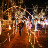 People walk through We Care Park on Thursday, November 29, 2018. We Care Park will be featured on The Great Christmas Light Fight on ABC, Monday at 8 p.m.<br /> Kelly Lafferty Gerber | Kokomo Tribune