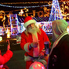 11-29-18<br /> We Care Santa hands out candy canes at We Care Park on Thursday, November 29, 2018. We Care Park will be featured on The Great Christmas Light Fight on ABC, Monday at 8 p.m.<br /> Kelly Lafferty Gerber | Kokomo Tribune