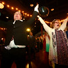 Matthew Roberts, left, and Annalisa Varnau do the YMCA during Night to Shine, a prom night experience for people with special needs at Oakbrook Church on Friday, February 9, 2018.<br /> Kelly Lafferty Gerber | Kokomo Tribune