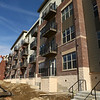 Construction crews work on the Flaherty and Collins luxury apartments on South Main Street on February 13, 2018.<br /> Kelly Lafferty Gerber | Kokomo Tribune