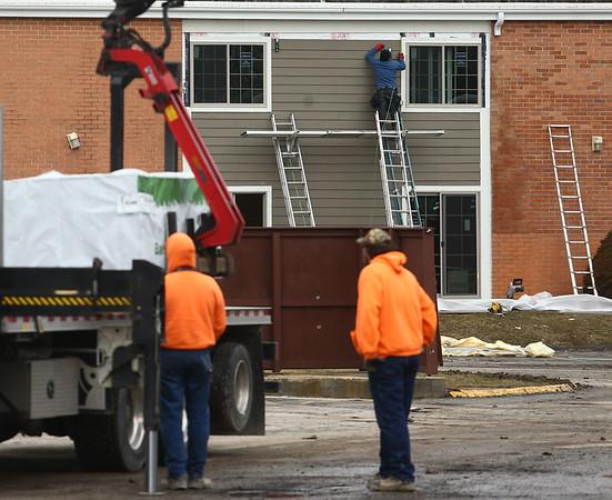 Park Place construction on February 16, 2018.<br /> Kelly Lafferty Gerber | Kokomo Tribune