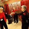 Wellbrooke's Life Enrichment Director Ellen Tocco swings around on the dance floor with Phyllis Mumaw during the Sweethearts Ball at Wellbrooke of Kokomo on February 14, 2018.<br /> Kelly Lafferty Gerber | Kokomo Tribune