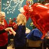 Stella Mace, left, and Loura Sullivan dance together during the Sweethearts Ball at Wellbrooke of Kokomo on February 14, 2018.<br /> Kelly Lafferty Gerber | Kokomo Tribune