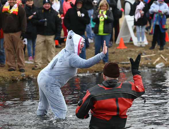 Polar Plunge at Crossroads Community Church on Saturday, February 3, 2018.<br /> Kelly Lafferty Gerber | Kokomo Tribune