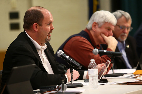 District 38 representative Heath VanNatter updates the audience on new legislation he will be looking at during the Third House legislative forum on Friday, February 23, 2018.<br /> Kelly Lafferty Gerber | Kokomo Tribune