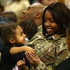 Sgt. Akilah Nuredeen laughs with her 3-year-old daughter Akira during the 38th Sustainment Brigade departure ceremony on Tuesday, January 2, 2018.<br /> Kelly Lafferty Gerber | Kokomo Tribune