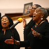 Tina Robinson sings with the SMBC Voices of Praise at the Dr. Martin Luther King, Jr. Celebration at Second Missionary Baptist Church on Saturday, January 13, 2018.<br /> Kelly Lafferty Gerber | Kokomo Tribune