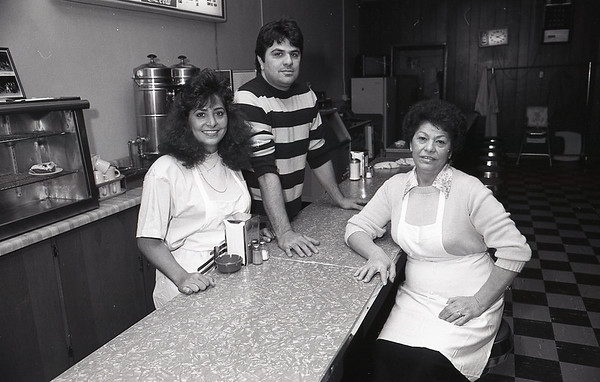 Toula Volikas-Linville, Dino Volikas, and their mom Sophia Volikas in a 1989 photo.<br /> KT file photo