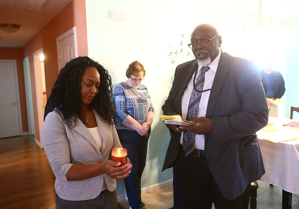 Kokomo's Habitat for Humanity held a house blessing and dedication of Theresa Everett's new home on Belvedere Drive on Sunday, January 28, 2018.<br /> Kelly Lafferty Gerber | Kokomo Tribune