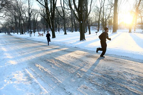 Members of the Kokomo Roadrunners run on a cold afternoon at Highland Park on Wednesday, January 17, 2018.<br /> Kelly Lafferty Gerber   Kokomo Tribune
