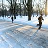 Members of the Kokomo Roadrunners run on a cold afternoon at Highland Park on Wednesday, January 17, 2018.<br /> Kelly Lafferty Gerber | Kokomo Tribune