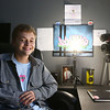 Payton Irwin sits at the desk in his bedroom where he films videos for his YouTube channel.<br /> Kelly Lafferty Gerber | Kokomo Tribune