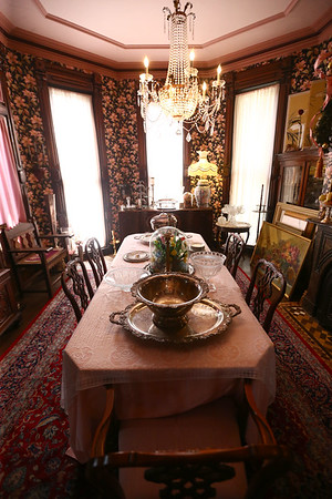 The dining room. The George Tate house, shown here on July 17, 2018, located at 114 East Jefferson Street and now owned by Dorwin Starr, was recently placed on the National Register of Historic Places. <br /> Kelly Lafferty Gerber | Kokomo Tribune