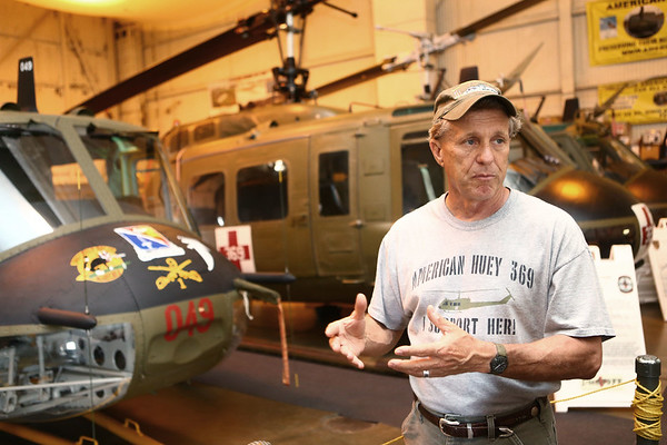 John Walker, founder and director of the American Huey Museum, talks about the Huey helicopters on June 19, 2018.<br /> Kelly Lafferty Gerber | Kokomo Tribune