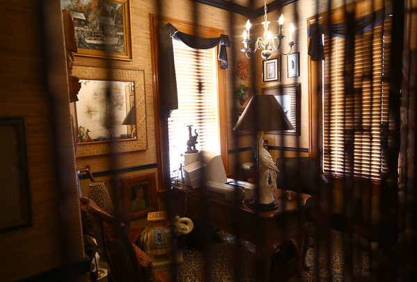 The jungle room. The George Tate house, shown here on July 17, 2018, located at 114 East Jefferson Street and now owned by Dorwin Starr, was recently placed on the National Register of Historic Places. <br /> Kelly Lafferty Gerber   Kokomo Tribune