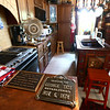 The historic plaques in the kitchen. The George Tate house, shown here on July 17, 2018, located at 114 East Jefferson Street and now owned by Dorwin Starr, was recently placed on the National Register of Historic Places. <br /> Kelly Lafferty Gerber | Kokomo Tribune