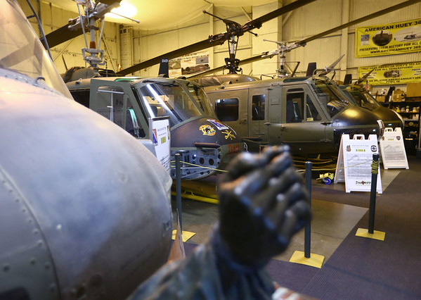 John Walker has worked to restore three Huey helicopters that flew in the Vietnam War and has them on display at the American Huey Museum in the Grissom Aeroplex.<br /> Kelly Lafferty Gerber | Kokomo Tribune