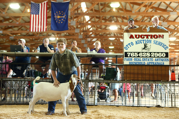 Livestock Auction at the Howard County 4-H Fair on Thursday, July 12, 2018.<br /> Kelly Lafferty Gerber | Kokomo Tribune