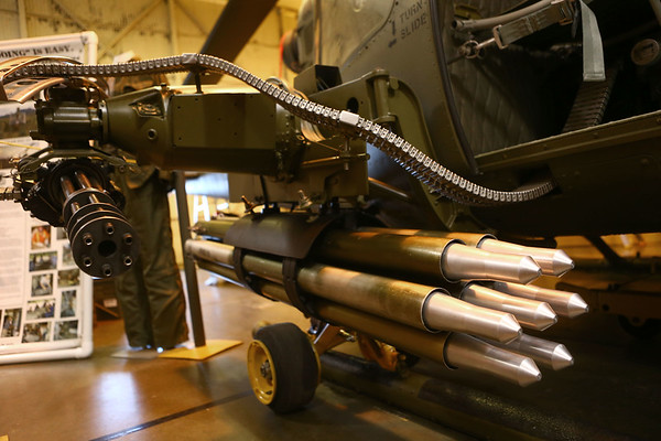 Part of the Huey gunner helicopter at the American Huey Museum in Bunker Hill at 1695 W. Hoosier Blvd. in the Grissom Aeroplex.<br /> Kelly Lafferty Gerber | Kokomo Tribune