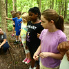 Ryleigh Smith, 11, holds her bird call that she and other Super Explorers day campers made to test out during a nature walk at Jackson Morrow Park on Monday, July 16, 2018.<br /> Kelly Lafferty Gerber | Kokomo Tribune