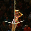 A performer swings on the anchor during a performance of the Peru Amateur Circus on Saturday, July 14, 2018.<br /> Kelly Lafferty Gerber | Kokomo Tribune
