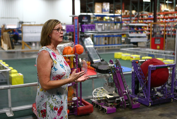 Mary Baker gives tours of AndyMark's new location at 1900 East North Street on Wednesday, July 11, 2018.<br /> Kelly Lafferty Gerber | Kokomo Tribune