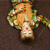 Kiddie clown Noah Cunningham lays on the floor in the clown area before the start of the Peru Amateur Circus on Saturday, July 14, 2018.<br /> Kelly Lafferty Gerber | Kokomo Tribune