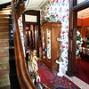 The front staircase. The George Tate house, shown here on July 17, 2018, located at 114 East Jefferson Street and now owned by Dorwin Starr, was recently placed on the National Register of Historic Places. <br /> Kelly Lafferty Gerber | Kokomo Tribune