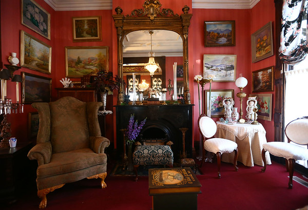 The music room downstairs. The George Tate house, shown here on July 17, 2018, located at 114 East Jefferson Street and now owned by Dorwin Starr, was recently placed on the National Register of Historic Places. <br /> Kelly Lafferty Gerber | Kokomo Tribune
