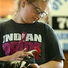 Piper Graber shows her Bantam Cockerel during the Livestock Auction at the Howard County 4-H Fair on Thursday, July 12, 2018.<br /> Kelly Lafferty Gerber | Kokomo Tribune