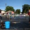 Kids and adults enjoy the bubble truck at the Kokomo-Howard County Public Library on Friday, July 6, 2018.<br /> Kelly Lafferty Gerber | Kokomo Tribune