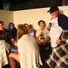 "Conner Bahney, playing Jeff ""Squints"" Palledourous, tells the legend of the Beast as the Ole Olsen Children's Theatre rehearse ""The Sandlot"" in Peru on Tuesday, July 3, 2018.<br /> Kelly Lafferty Gerber 