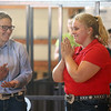 Megan Hawkins reacts as she is named the Supreme Showman at the Howard County 4-H Fair on Wednesday, July 11, 2018.<br /> Kelly Lafferty Gerber | Kokomo Tribune