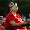 "Vickie Dunn listens to the patriotic music during Kokomo Park Band's ""Let Freedom Ring"" concert in Highland Park on July 4, 2018.<br /> Kelly Lafferty Gerber 